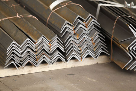 building structures: Metal profiles angle foundation for building structures, steel