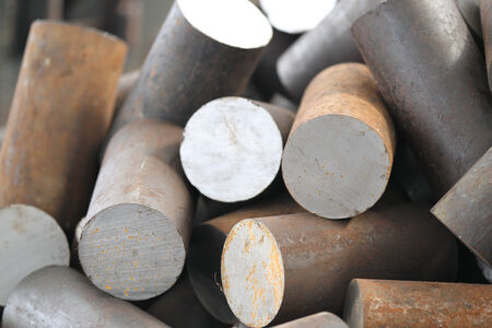 billet: Round billet of metal raw materials for further processing