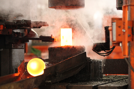 billet: automatic hot stamping process of grinding balls of round billet