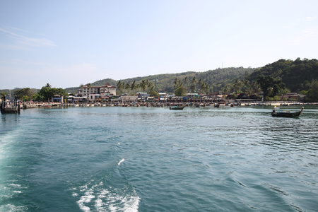 scenic views: scenic views of the coastline of Phi Phi Island, Thailand, Southeast Asia