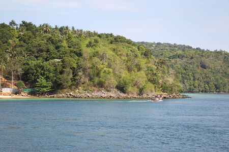 scenic views: viste panoramiche sulla costa di Phi Phi Island, Thailandia, Sud-Est asiatico Archivio Fotografico