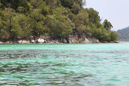 archipelago: scenic views of the coastline of archipelago Koh Lipe Island, Thailand, Southeast Asia