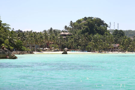 scenic views: scenic views of the coastline of Boracay Island, Philippines, Southeast Asia