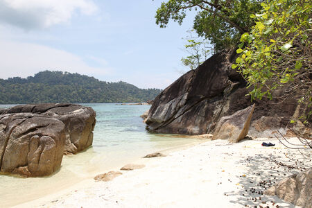 archipelago: Large boulders on the beach in the islands of the archipelago Koh Lipe, Thailand Stock Photo