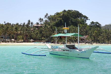 shallop: Traditional Philippine boat to travel by sea and fishing