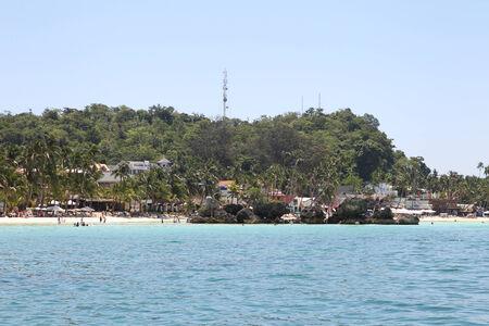 scenic views: viste panoramiche sulla costa di Boracay Island, Filippine, sud-est asiatico Archivio Fotografico