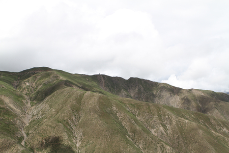 Foothills of the Tibetan landscape with mountains, China photo