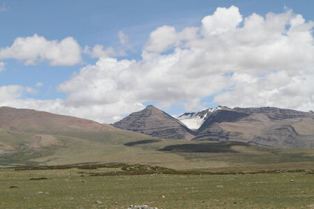 Foothills of the Tibetan landscape with mountains, China