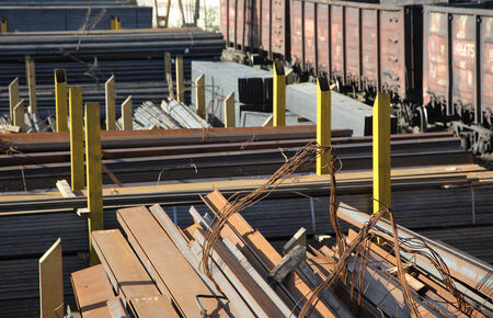unloading: Logistics complex for unloading, loading and storage of metal