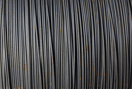 riots: Texture formed by a thin metal fittings packed into riots in stock Stock Photo