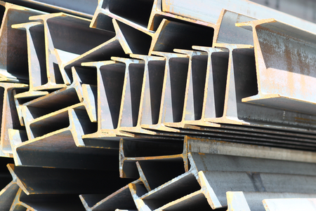 Metal profiles beam foundation for building structures, steel