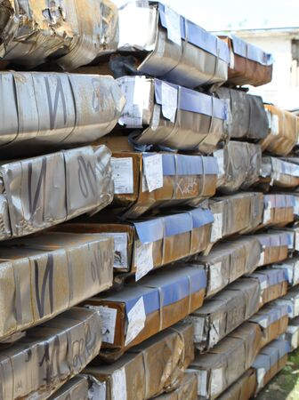 handling: warehouse for shipping, handling and storage of sheet metal in packs