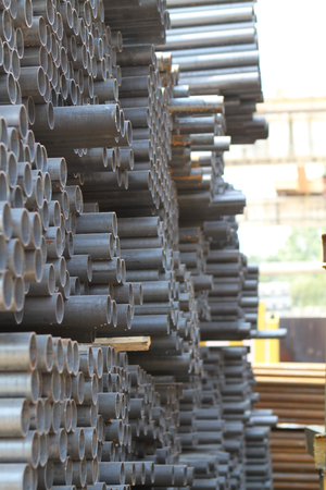 building structures: Metal profiles tube foundation for building structures, steel
