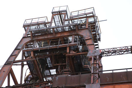 metallurgical: An interesting journey through the old metallurgical plant Stock Photo