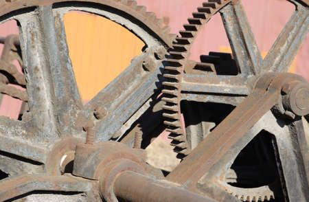 gearing: Old mechanism with large gear reducer
