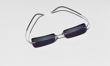 alloy: fashion sunglasses with a light alloy in the frame on a white background Stock Photo