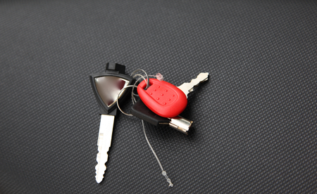 keychain: Keychain for motorbike ignition trunk and access