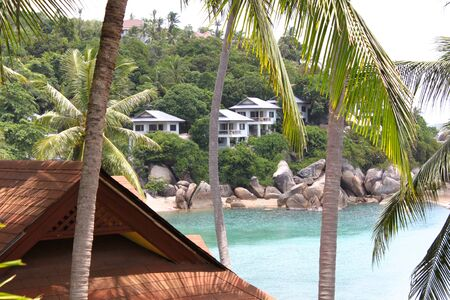 housetop: Tropical landscape on the island of Koh Samui Thailand Southeast Asia