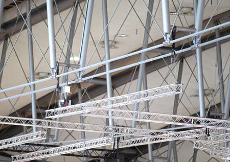 roof framework: elements of the building structure under the roof of the building