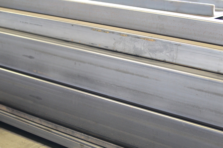 building structures: metal profiles channel foundation for building structures steel Stock Photo