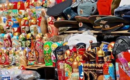 realization: Souvenir shop for tourists, Moscow, Russia, Lenin Hills