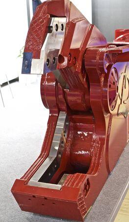 manipulator: Mobile shears for scrap metal shredding, head manipulator Stock Photo