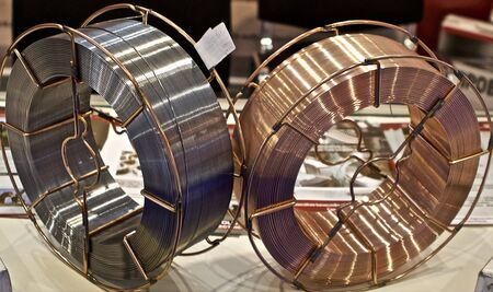 Coils with a special welding wire for various kinds of welding Standard-Bild