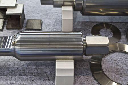 machine part: massive machine part a product of modern technology Stock Photo