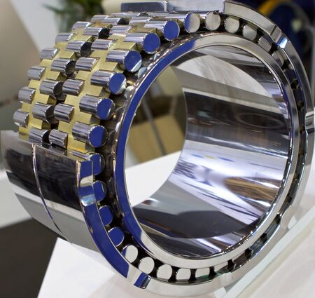 kind: kind of physical geometric cut roller bearing rotation Stock Photo