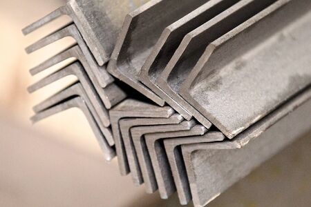 bevel: metal profiles angle lies in bundles of stock
