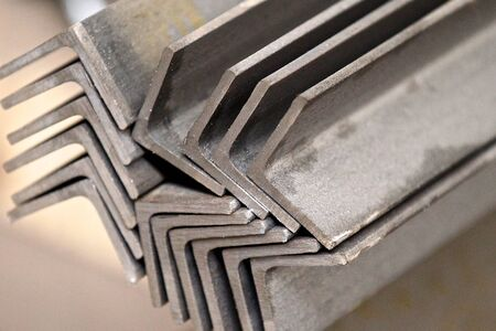 metal profiles angle lies in bundles of stock