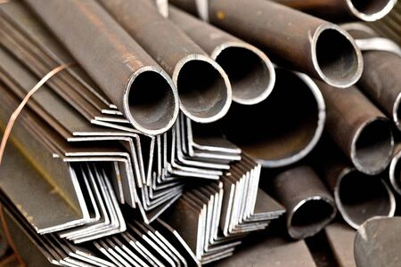 angles: pipes and angles made to create steel structures