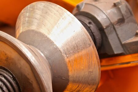 rollers: conic section steel rollers to move the workpiece