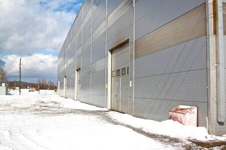 prospect: prospect of a modern building of the panels of the industrial plant