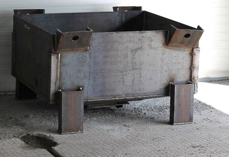 raw materials: boxes for compact storage of various materials and raw materials in industrial shop