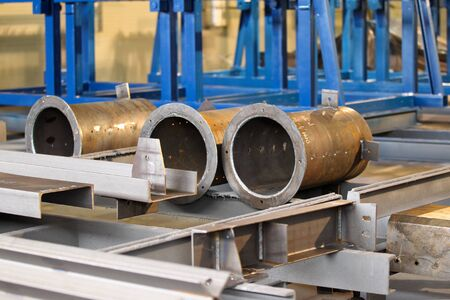 steel pipes: Steel structures of large diameter steel pipes