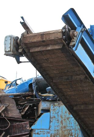 scrap metal: elevator to move the scrap metal and other materials