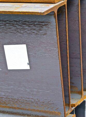 joist: metal profile beam lies in bundles of stock