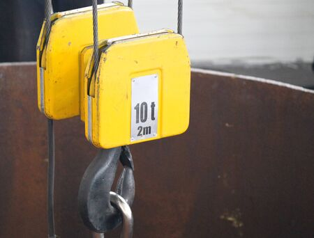 crook: mount, hook and slings for industrial crane