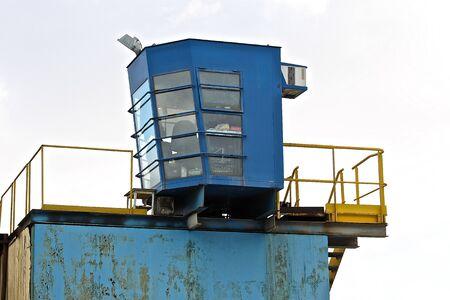 metal scrap: operators cab production line for processing of metal scrap