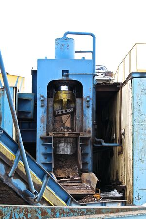 cutting metal: powerful hydraulic shears for cutting metal scrap