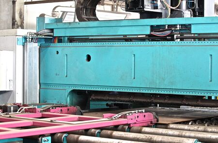 elements of the machine for complex  shape cutting of sheet metal