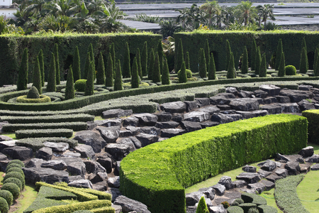Examples of landscape design, Thailand, South East Asia Stock Photo