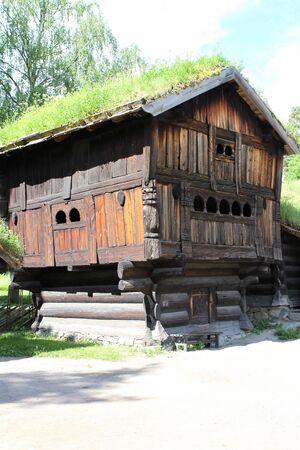 Traditional ancient wooden buildings, Norway, Scandinavia, Northern Europe 版權商用圖片 - 81421891