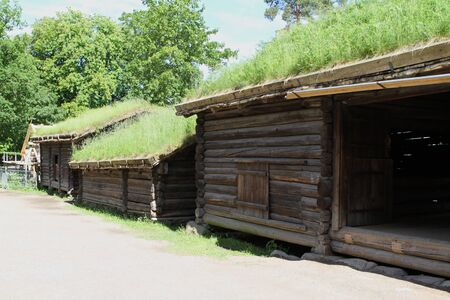 Traditional ancient wooden buildings, Norway, Scandinavia, Northern Europe 版權商用圖片 - 81278057