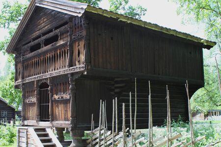 Traditional ancient wooden buildings, Norway, Scandinavia, Northern Europe 版權商用圖片 - 81278083