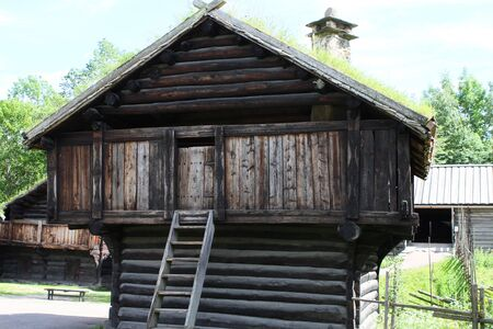 Traditional ancient wooden buildings, Norway, Scandinavia, Northern Europe 新聞圖片