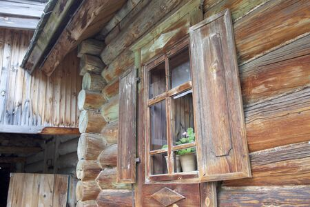 Old Russian wooden houses and structures, Russia Reklamní fotografie