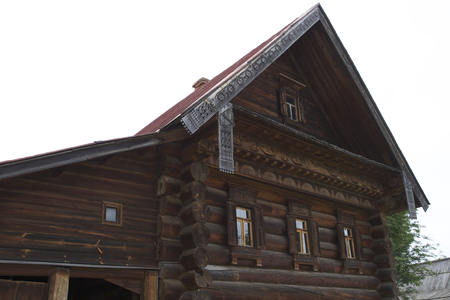 Old Russian wooden houses and structures, Russia Reklamní fotografie - 82194517