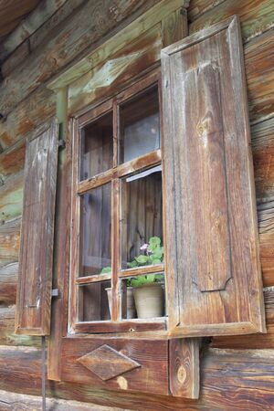 Old Russian wooden houses and structures, Russia Reklamní fotografie - 82024154